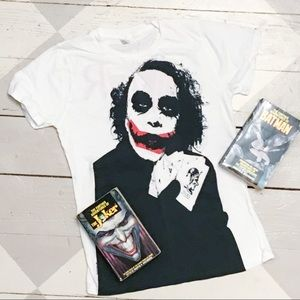 Joker Heath Ledger Dark Knight women's tee M